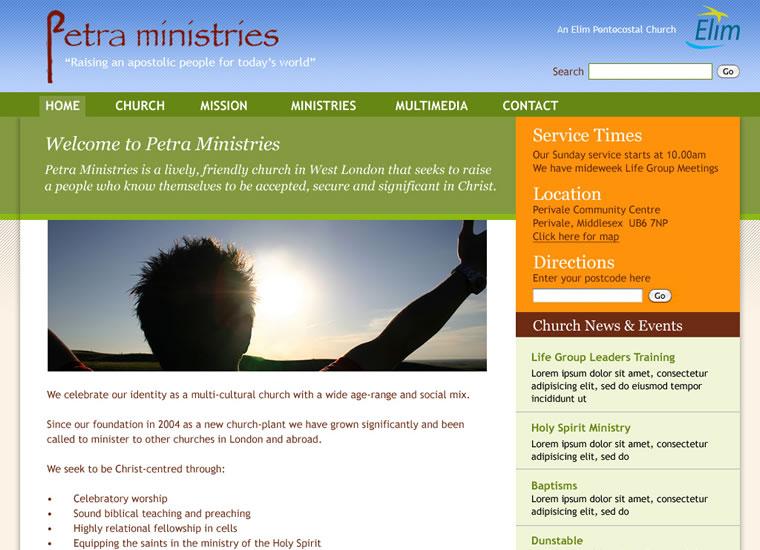 pentecostal church websites
